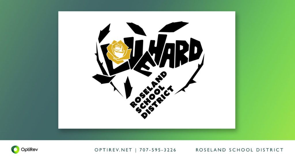 Love Hard logo design for Roseland School District
