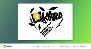 Love Hard logo design for Roseland School District