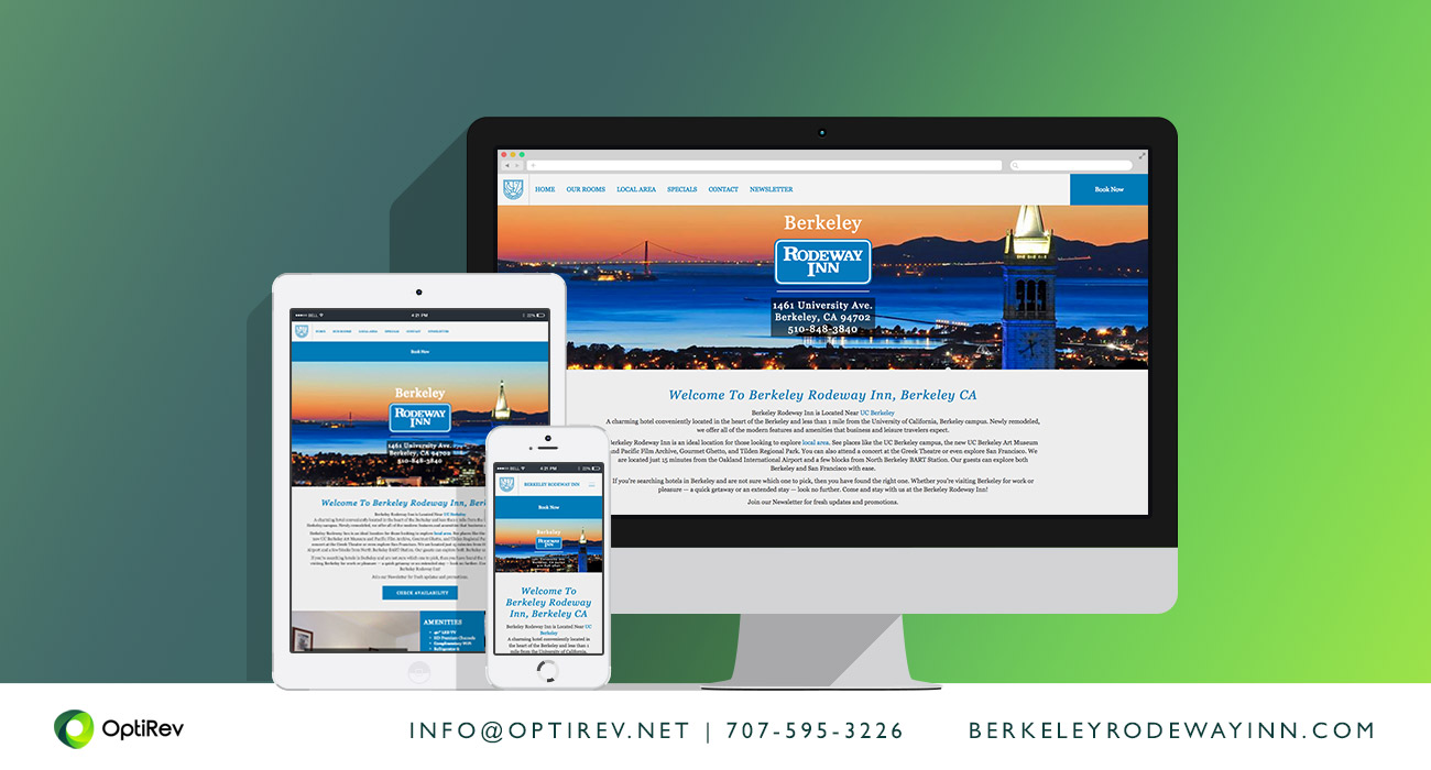 Berkeley Rodeway Inn website by OptiRev, LLC