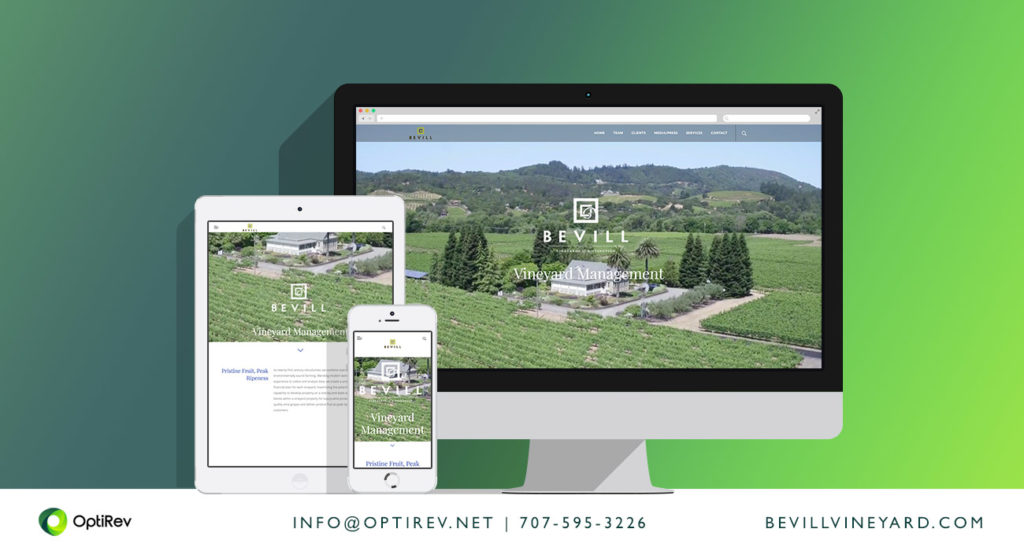 Bevill Vineyard Management website design