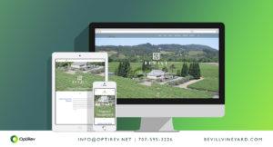 Bevill Vineyard Management website design