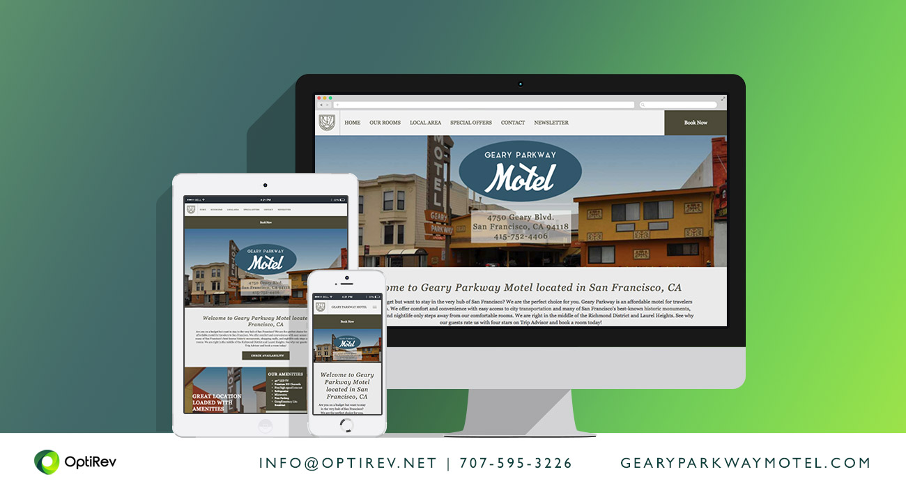 Geary Parkway Motel website by OptiRev, LLC