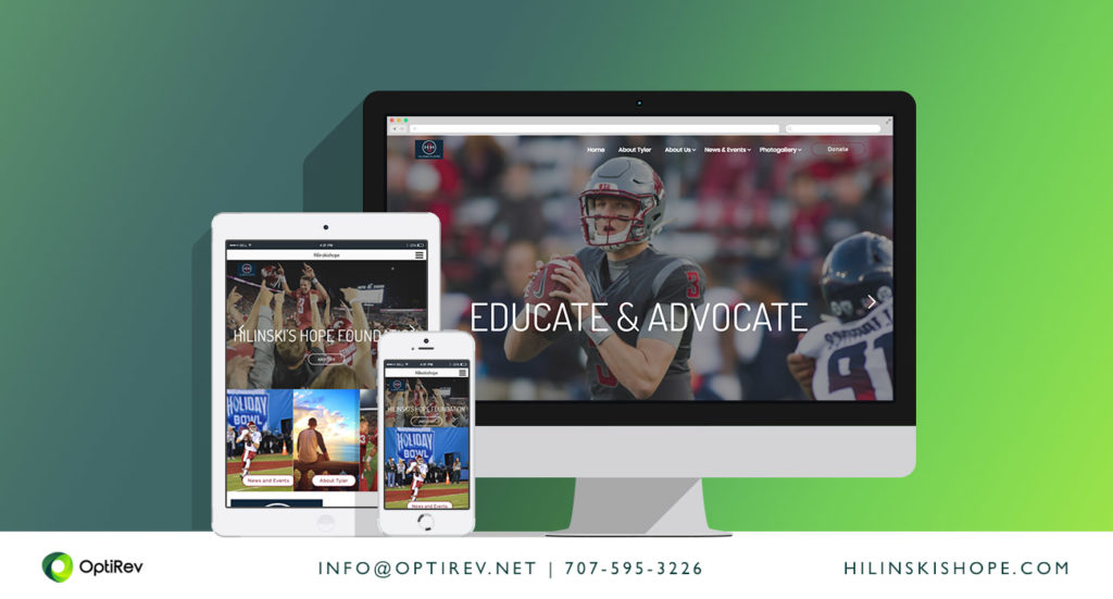 Hilinski's Hope Foundation website by OptiRev, LLC