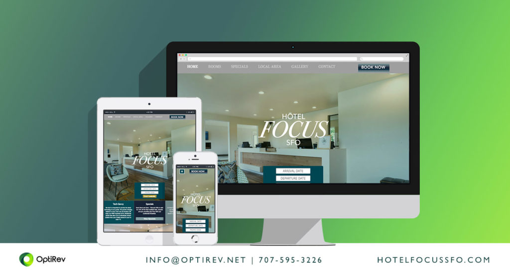Hotel Focus SFO website by OptiRev, LLC